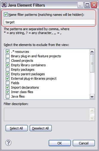 Filtering in Package Explorer